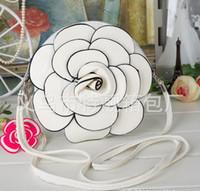Wholesale 2013 Newest Women camellia Flowers purse handbag phone Shoulder Bag diagonal bags P