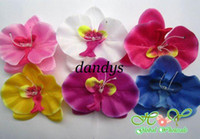 Wholesale Freeshipping NEW Orchid Flower Hair Clips Hairpins decorate Hair wear artificial Bridal Wedding Hai