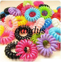Wholesale Freeshipping Fashionable Telephone Line Elastic Hair Bands Hair ties hair ring hair wear hair access