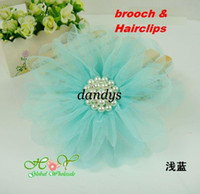 Flower Hairband 1-50piece/lot Freeshipping! NEW large pearl flower Hairclip lace hairpins brooches Hair Accessories Wholesale