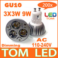 Wholesale 200x Dimmable GU10 E27 E14 W V High power LED Bulb Spotlight Downlight Lamp LED Lighting