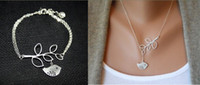 Wholesale 15 OFF Bird retro silver bracelet pces necklace pces of silver plated set jewelry pces