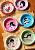 Wholesale New cute japanese girl iron coffee cup coaster cup mat