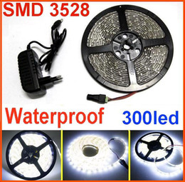 50m SMD 3528 60led m Waterproof LED Strip Light 5M 300 LED Light Strip Lamp White + power supply DHL