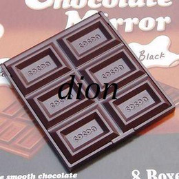 Wholesale NEW cute Chocolate pocket mirror makeup mirror