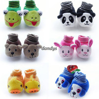 Wholesale cartoon animal Socks Baby Prevent slippery Modelling Stereo Toddler antislip Sox Doll