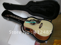 Wholesale High Quality new style Cream colored SJ200 Acoustic Electric Guitar with cas