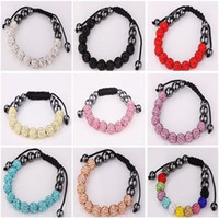 Wholesale shamballa clay Disco ball Crystal Rhinestone Bead friendship pave Bracelet bracelets
