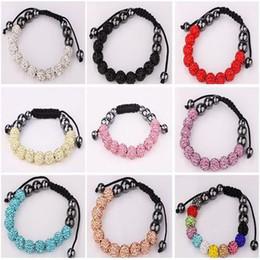 shamballa clay Disco ball Crystal Rhinestone Bead friendship pave Bracelet bracelets