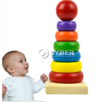 Wholesale Melissa and Doug Classic Sensory Educational Toy Wooden Rainbow Stacker New