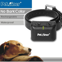 Wholesale Dog Collars Rechargeable and Waterproof Anti Bark Collar with Static and Vibration