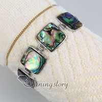 European jewelry cheap - square sea shell bracelet abalone jewelry Cheap fashion jewelry