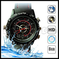 Wholesale Spy Camera watch GB Waterproof Leather Wrist Watch Style mini DVR surveillance