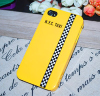 Wholesale Iro Candy Color Taxi Pattern PC Hard Case Back Cover For Apple IPhone5 IPhone