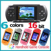6 couleurs PVP 2 poches 9 PVP console centrale 16 bits lecteur de jeux vidéo jeu portable avec une carte de jeu 5