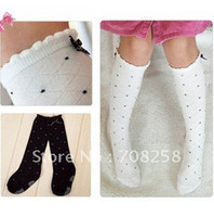 Wholesale 10pairs Baby Girls Children Cute Socks Knee high Promotion amp Sweet Kids Infant Bowknot Cotton Stockin