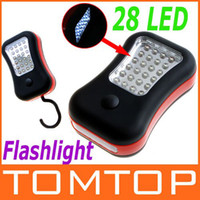 Wholesale 28 LED Magnetic Work Light Hanging Hook led Flashlight for Outdoors H8671