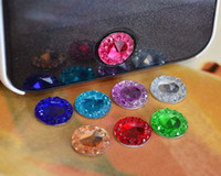 Wholesale FreeShip Sparkling Bling Bling Crystal Home Button Sticker for Cell Phone iPhone G S Gift