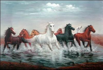 Running Horse Oil Paintings