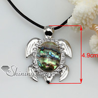 European  abalone jewlery - seaturtle abalone jewerly seashell necklaces hawaii shell jewelry leather necklace Fashion jewellery handmade jewlery