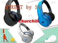 Wholesale 3pc New Good quality SMS STREET Wired over head Headphone headset earphone black blue and white c