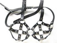 Leder Keuschheits Bra Keuschheitsgürtel weibliche sexy Harness Büstenhalter-Kasten -Bondage Sexspielzeuge für Ihre XLY1080