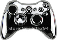 Wholesale Brand New SILVER CHROME FULL HOUSING SHELL FOR XBOX WIRELESS CONTROLLER With all matching parts