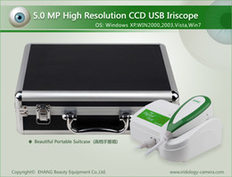 Wholesale CE NEW MP USB Left Right lamp Iriscope camera Iridology Iris camera with Pro analysis software