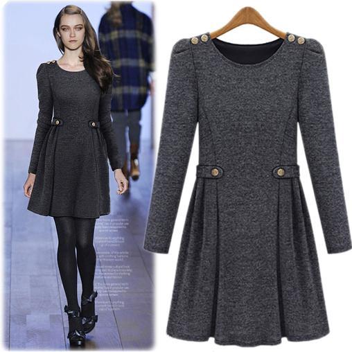 New Listing % Winter Silk Short Sleeve Shirt Dress Fit Flare Size 8 VTG Black
