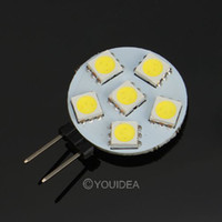 Wholesale 4pcs G4 W LED Bulb SMD Warm Pure White Car Side Wedge Light Lamp Tail Light AC V