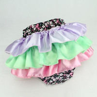 Shorts magic cube - New Infant Underwear Diaper Cover Baby Girl Tutu PP Pants Magic Cube Lace Flower Short Pants