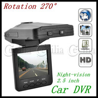 Wholesale Mini HD Car DVR record Real HD DVR Car LED Screen Rotating night vision IR lights