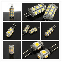 Wholesale 8pcs G4 LED Bulb styles Home warm white or pure white Car reading light AC DC V Brillance