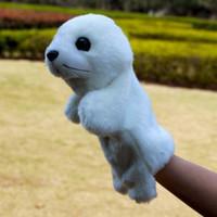Multicolor plush sea animals - Candice guo Super cute baby toy plush animal hand puppet white sea lion sea dog teaching game good
