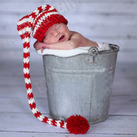 Wholesale Pixie Elf Fairy Santa Baby Gift Photo Prop Crochet hat Toddler Christmas Beanie Infant Knitted cap