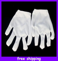 Wholesale Jabbawockeez White gloves Ghost Step Dance Hip hop Cotton Clean Gloves