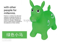 inflatable horse - Inflatable Toys Animal Kids Horse Deer Cattle Dragon Dog Child Kid s Jumping Play