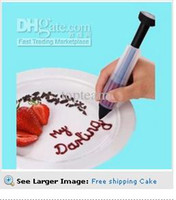 Wholesale DIY Cake Biscuit Cookie Pastry Icing Decoration Syringe Chocolate Plate Pen Tool New RG0002