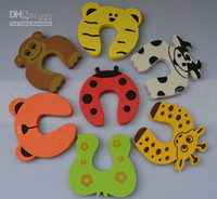 Wholesale 4 Child kids Baby Animal Cartoon Jammers Stop Door stopper holder lock Safety Guard Finger Prote