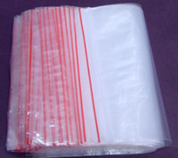 Wholesale 100x transparent plastic Bags reusable PE Packing Bags with zipper slide zip lock cm sizes