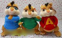 Wholesale 35cm Alvin and the Chipmunks mickey mouse rats baby soft smurfs doll plush toys free ship