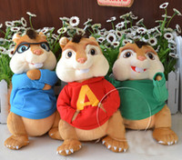 Wholesale 35cm Alvin and the Chipmunks mickey mouse rats baby soft smurfs doll plush toys