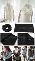 Wholesale Winter Warm Infinity Circle Cable Knit Cowl Neck Long Scarf Shawl
