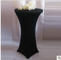Wholesale wholesales price cocktail table cover spandex table covers black cocktail table cloths