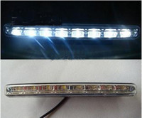 8 LED White Front HOT 2x8 Led Car Truck DRL Daytime Running Lights Day Driving Fog Universal Light White