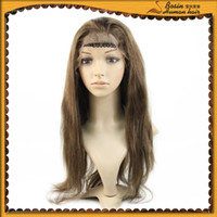 100% Indian Remy Hair Lace Front wig, 20'' 1B Off Black Stra...