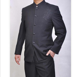 Wholesale Chinese Collar Dragon suit dragon embroidered tunic Business men s suits