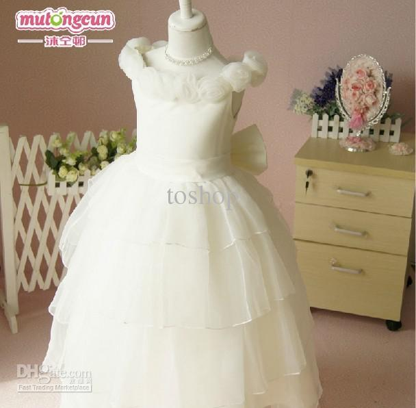 Hot!! Ivory Color Toddler Flower Girl Dresses Beautiful Party ...