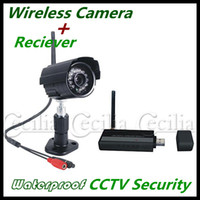 Wholesale HiFast CCTV Security DVR Security Kit Bullet Cameras Digital Wireless Camera x1 USB Receiver