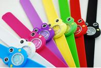 Wholesale Cheap Children Candy Frog D Snap Slap Jelly Silicone g Unisex Luxury Men Sport Watches Women Quartz